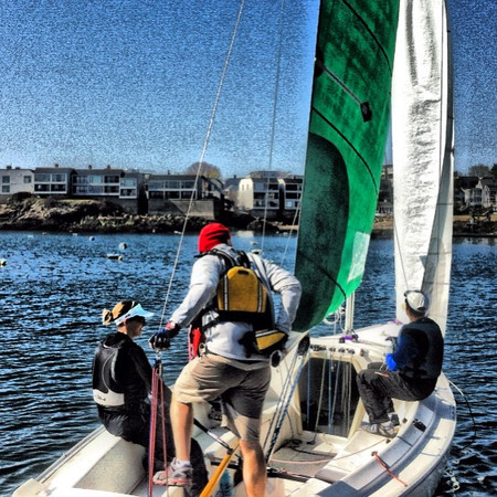 Time to race at Boston Yacht Club for #jacksoncup team racing. #sailing