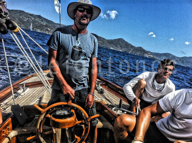 Owner/skipper Matt Barker @thebluepeter catching the fleet @springregatta festival @britushvirginis  #bvi #bvisr13