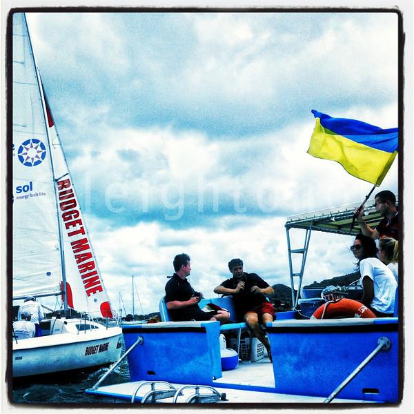 Ukraine represented. Budget Marine Match Racing @sxmheineken @stmaarten_tweet #sxm @sxmlocal #sailing #regattas #racing