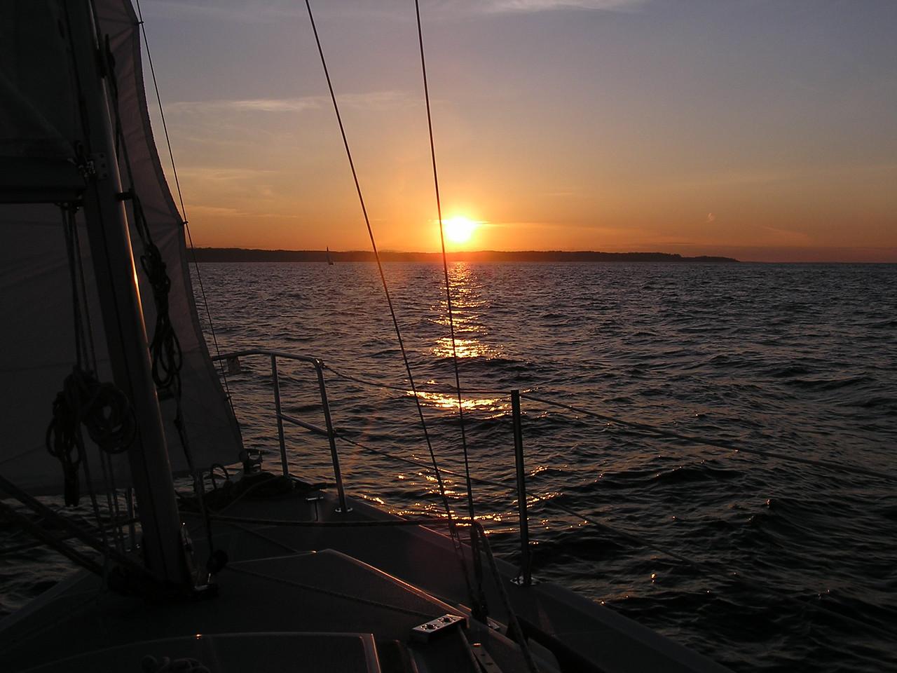 Ahhhh ... the sunset sail ...