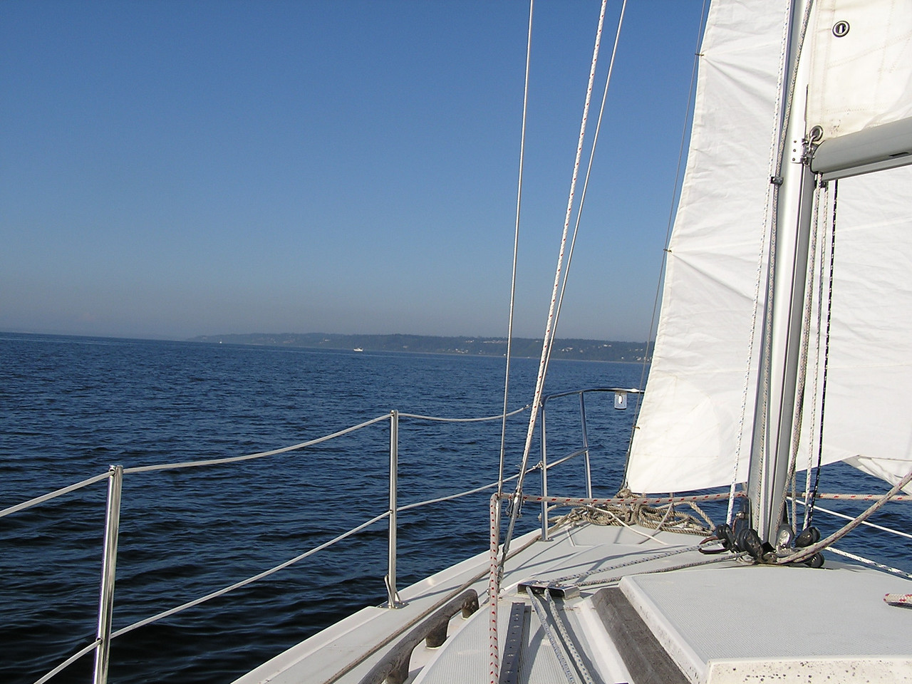 Summer sailing ... blue sky, blue water, nice breeze ... great day.