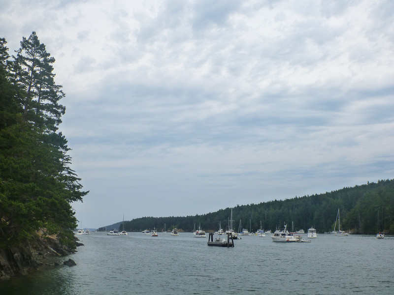 Reid Harbor, Stuart Island.  A busy place on a nice summer weekend.