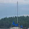 Anchored out in Provost Harbor, Stuart Island