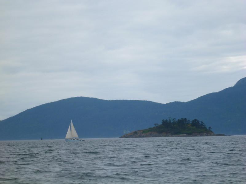 sailing out of Sucia Island