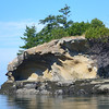 Limestone at Sucia Island.  Great formations
