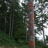 Modern totem pole on Stuart Island