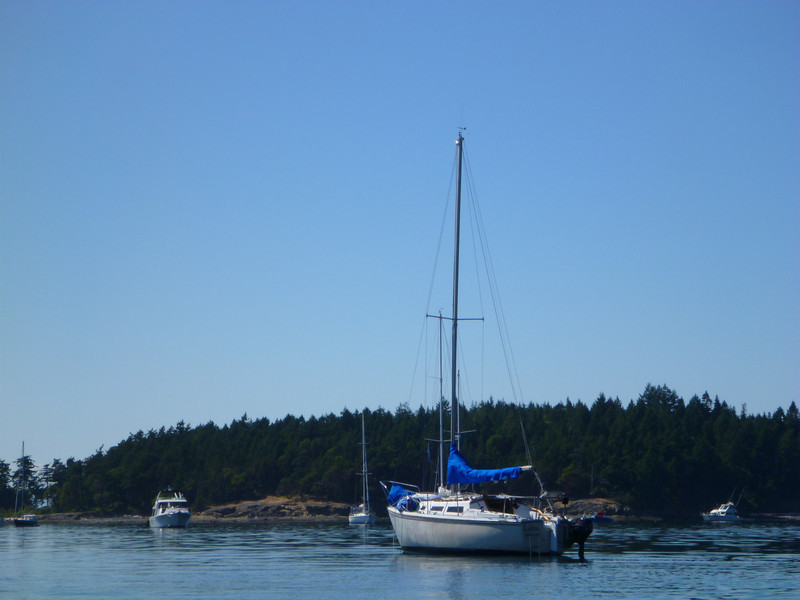 Anchored out at Sucia Island
