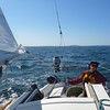 Andrew at the helm