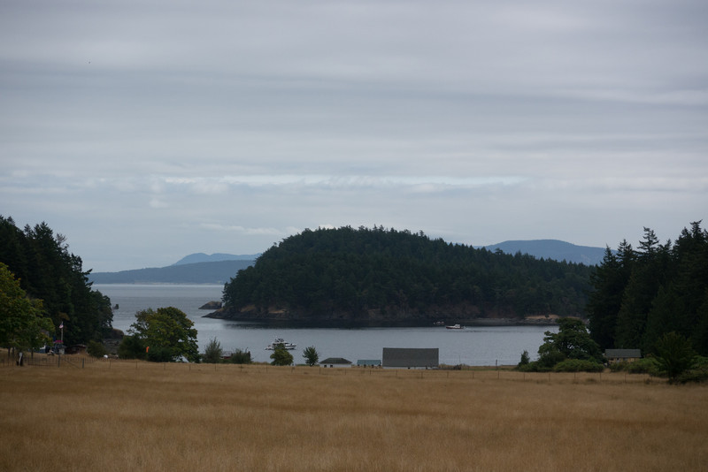 "The ""town"" of Stuart Island is along the water at the end of this runway."
