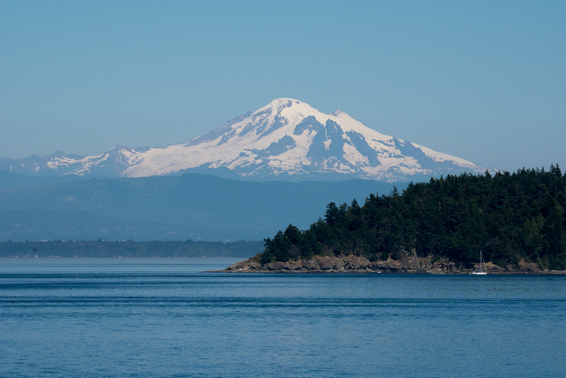 Mount Baker, shot from Sucia