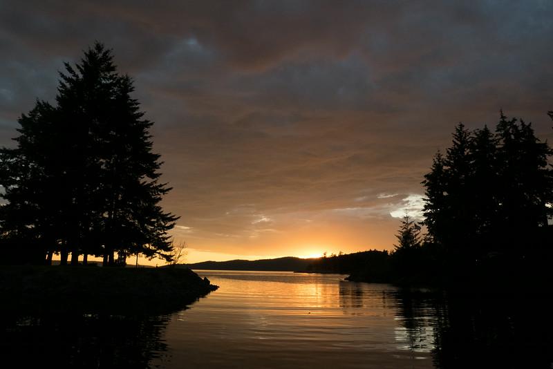 Blakely Island Sunset