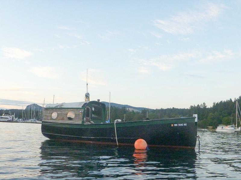 Strange customized boat in Deer Harbor