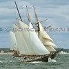 Schooners Tyrone, Amistad and Mystic Whaler