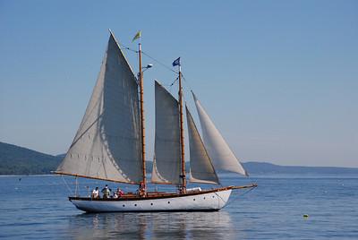 schooner on a calm sea
