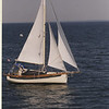 """Falmouth cutter """"Naw Salt"""" on the way home in 2002"""