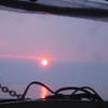 Sun rising over the wide Atlantic.  Hoping for wind!<br /> [photo by Sandy Ward]