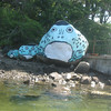the frog rocks, still freshly painted six years later!<br /> [photo by Sandy]