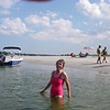 Sandy swimming at Wingaersheek Beach