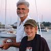 Bert & Brandon fishing in Scituate Harbor