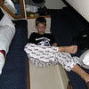 Yes....he does sleep in a bunk