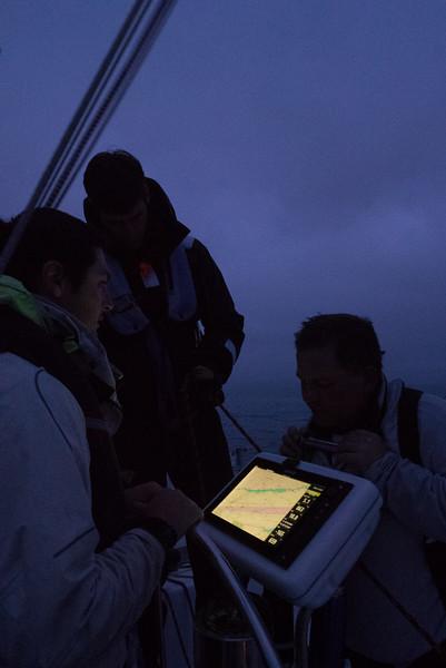 Talking overnight strategy near dusk.