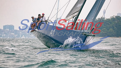 Celestial practising for the Rolex Sydney to Hobart Yacht 2018