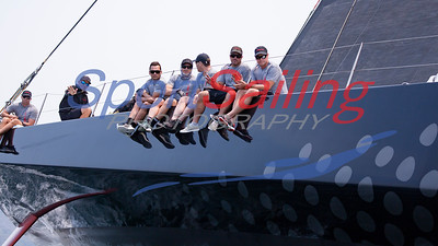 Comanche practising for the Rolex Sydney to Hobart Yacht 9