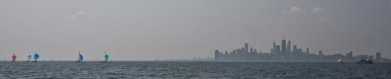 Front runners of the Etchells Chicago Fleet 11 Verve Race