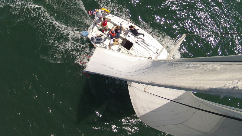 May 19th, 2013.  Sailing with Fe, Jorge, Rachel.  Camera at top of mast looking down.