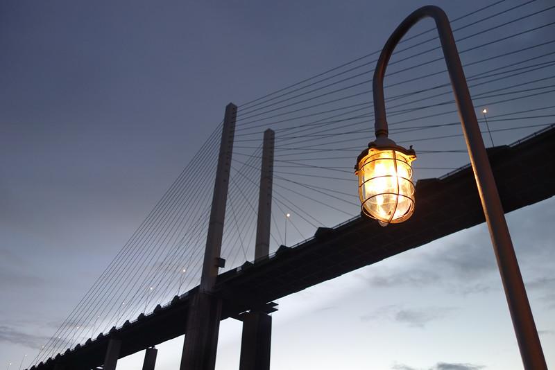 QE2 Bridge at Dusk
