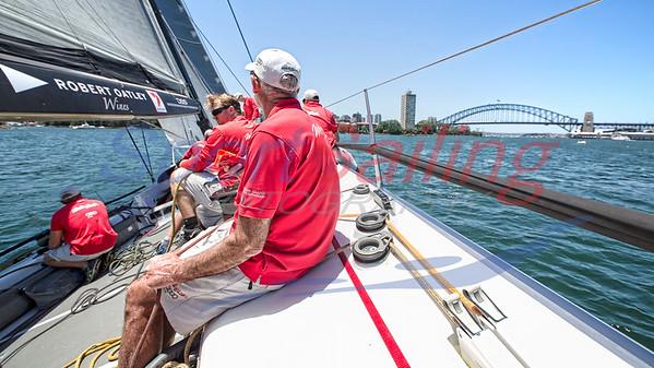 Wild Oats XI - training sail