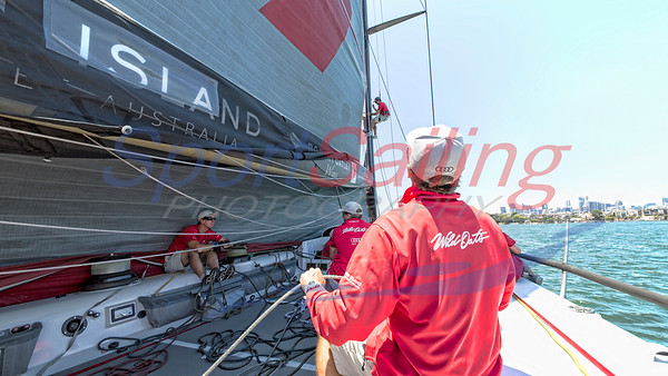 Wild Oats XI - main sail hoist