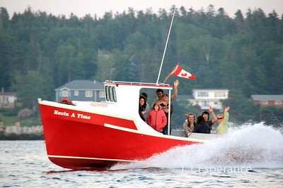 Havin' a Time... Indeed!  Heading home on St. Margaret's Bay, NS.