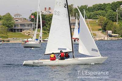 Illusions wrapping up a a race in front of SMSC in French Village Cove.