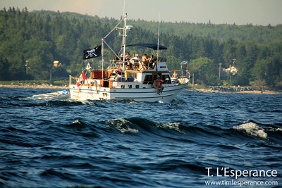 """Beautiful afternoon with a full load on """"Monkeyville"""" on St. Margaret's Bay, NS."""