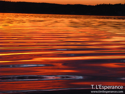 Sunset wavelets on St. Margaret's Bay with the oil on water look that is hard to find!