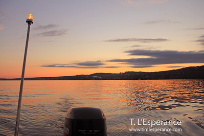 Looking back on a beautiful evening on the water, St. Margaret's Bay, NS.