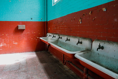 There were many, many students at Saint Augustine's. These are the sinks in the boy's room.