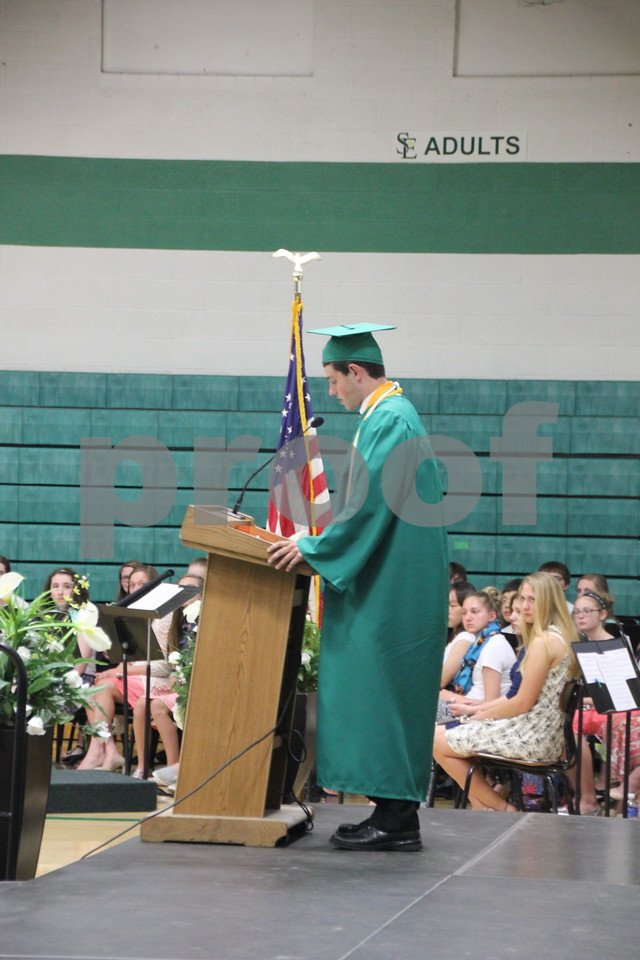 Daniel Albright speaking to the graduates at Saint Edmond graduation  on May 17, 2015