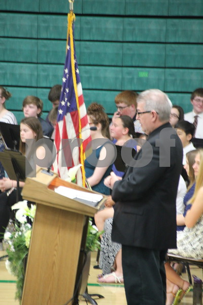 John Millenger Gave the invocation at the Saint Edmond graduation on May 17, 2015 at the Saint Edmond high school