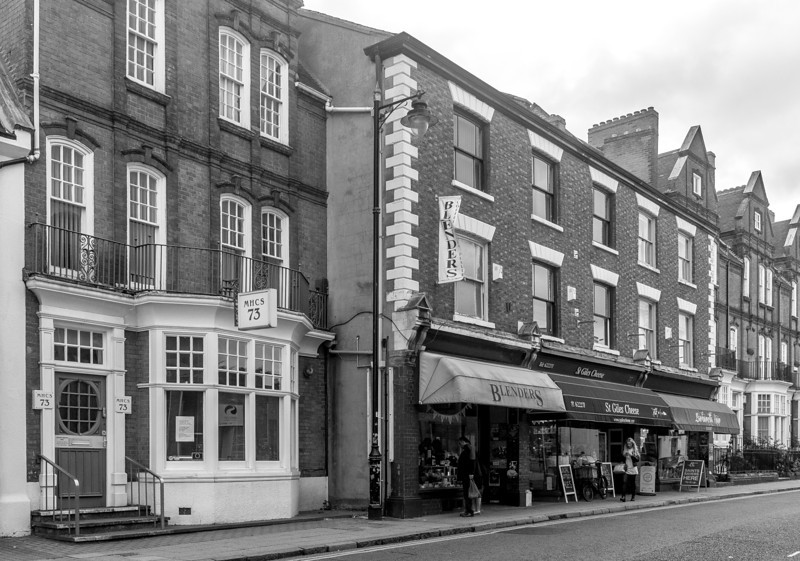 Original shop fronts, St Giles' Street, Northampton