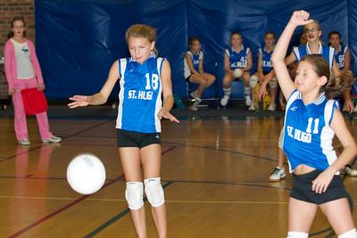 Hugo 5th Grade Volleyball  2010-10-02  67