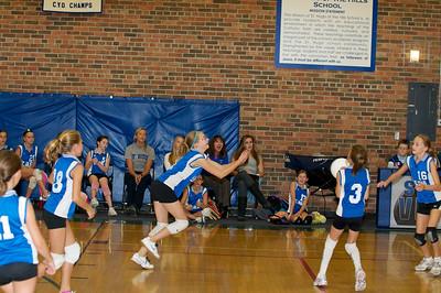 Hugo 5th Grade Volleyball  2010-10-02  65