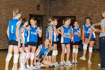 Hugo 5th Grade Volleyball  2010-10-02  100