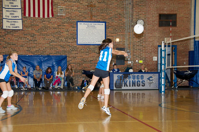 Hugo 5th Grade Volleyball  2010-10-02  24