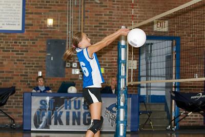 Hugo 5th Grade Volleyball  2010-10-02  82