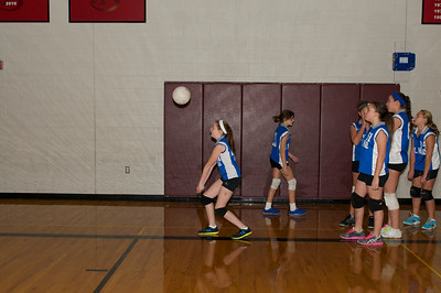 7th Grade Hugo Volleyball 2012-10-13  7