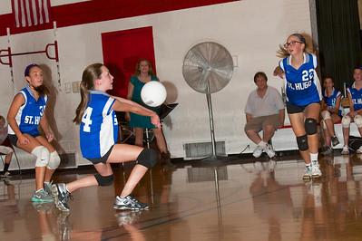 Hugo 7th Grade Vball vs  Regis  2012-09-13  50