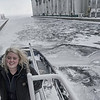 Sarah is a Tugboat Captain working the busy Thunder Bay Harbour on Lake Superior. In the winter months she enjoys working as a Second Engineer aboard the same vessel.