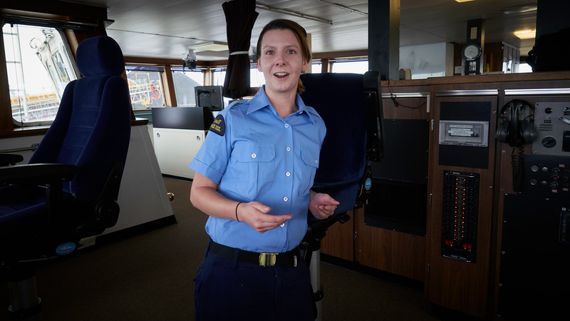 Meghan is QUartermaster with the Canadian Coast Guard.